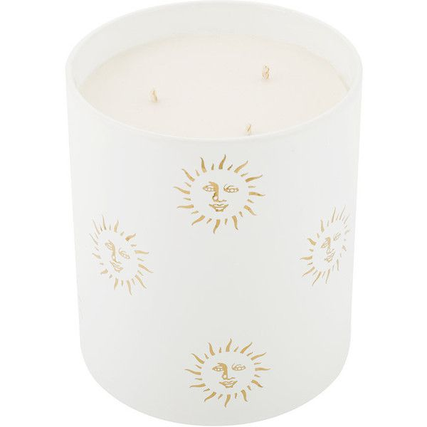 Casa Carta Sun Porcelain Candle - Mediterranean Fig - Large ($245) ❤ liked on Polyvore featuring home, home decor, candles & candleholders, white, fig scented candles, mediterranean home decor, fig candle, white candles and inspirational home decor
