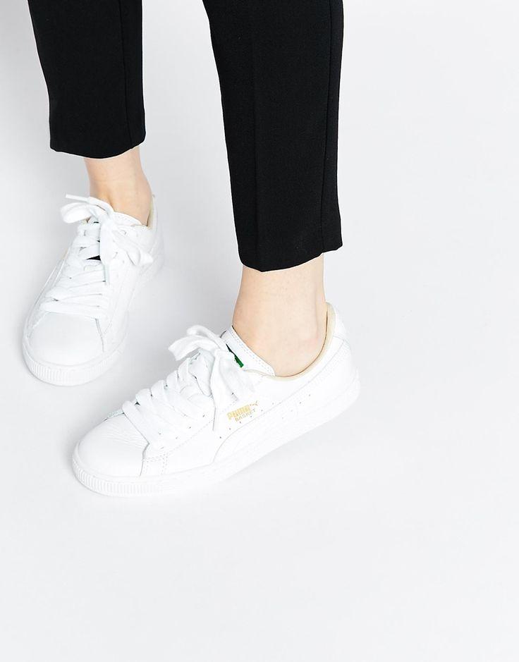 puma basket classic damen white