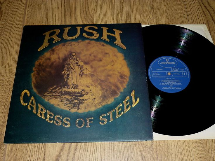 RUSH - Caress of Steel - UK 1st PRESS LP - MERCURY 9100 018