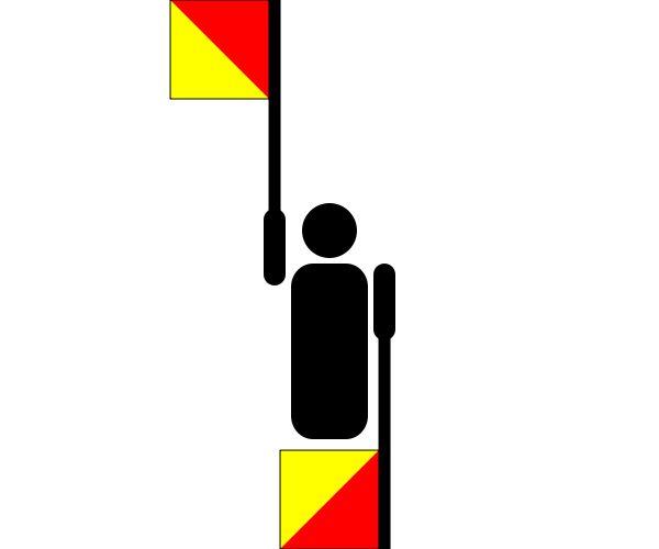 Semaphore Delta - Symboles de la paix — Wikipédia