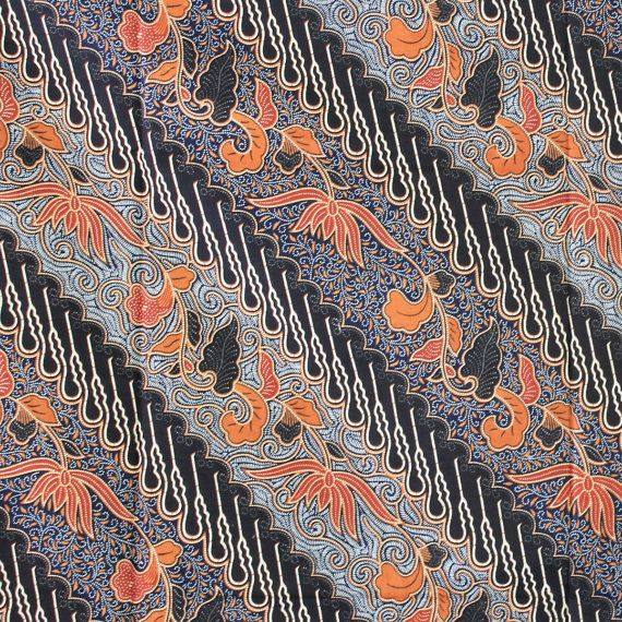 grayblack and orange  print 100 cotton traditional by TheThailand, $17.00