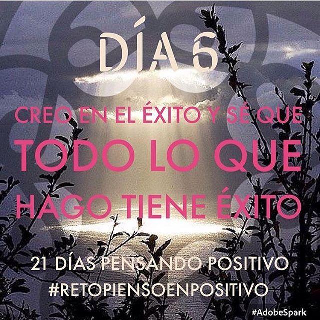 Lunes lleno de exito #Día6 wuhuuu !! Casi 1 semana purificando la mente ☀️❤️ #retopiensopositivo #56 # @cony_peque @la_yoyo_qui