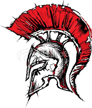 Spartan Helmet Logo | Thi s i s the photo that i nspi red my final picture .