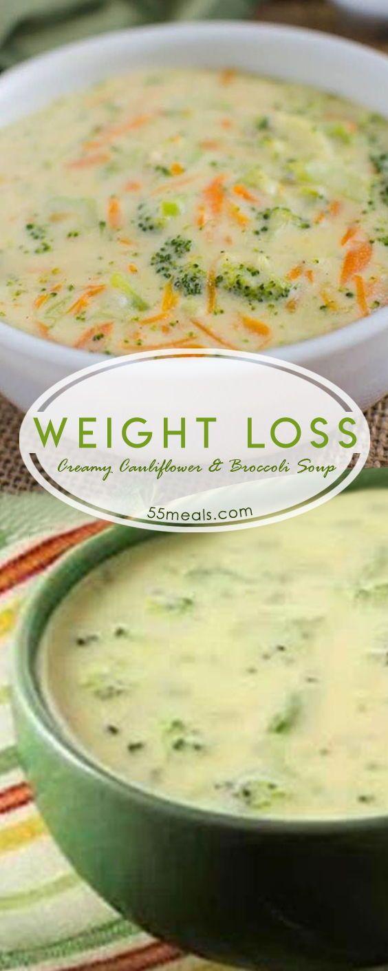 Best Weight Loss Creamy Cauliflower and Broccoli Soup (Weight Watchers) #caulifl…
