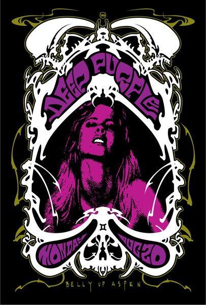 Deep Purple concert poster...my most favorite band...so under rated...killer rock before their time and still awesome! RIP Mr. Lord...