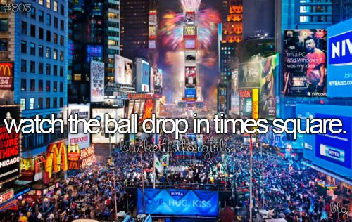 Someday, I will spend New Year's in Times Square!