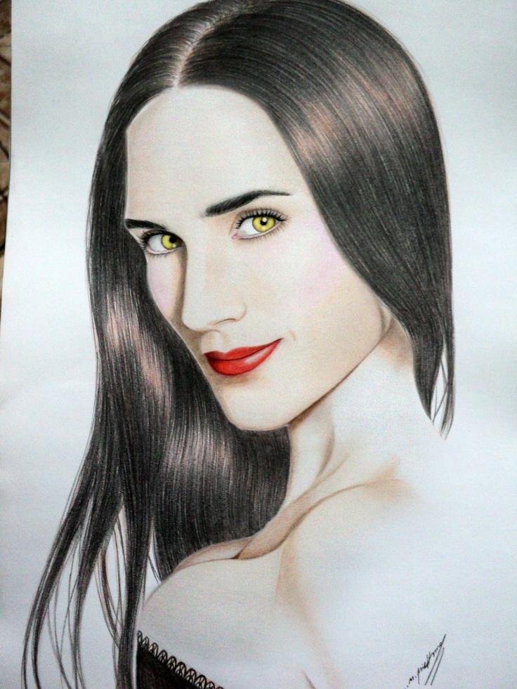 Gilfinar, graphite, pastel and color on paper...