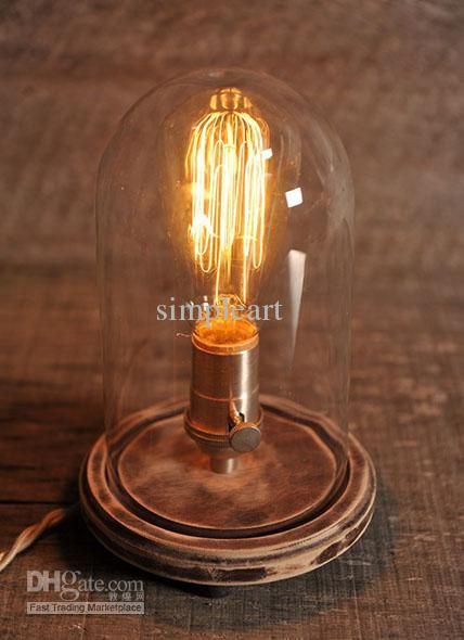 Cheap Table Lamp - Best Vintage Bell Jar Table Lamp Rustic Industrial Lamp Online with $115.27/Piece   DHgate