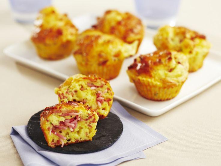 Muffins au râpé de jambon et au comté