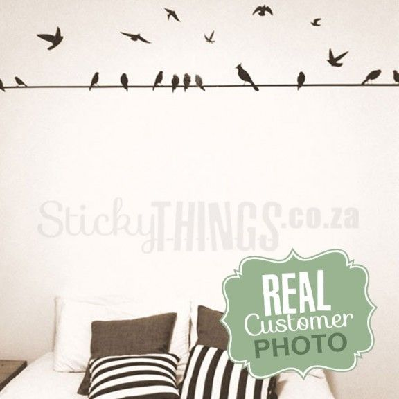 Birds on a Wire Wall Decal