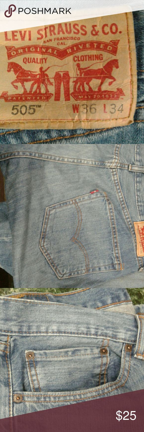 Levi 505 jeans 36/34 Comfy jeans faded in all the right places! Levi's Jeans Straight