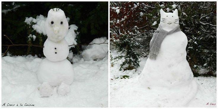 Chat des neiges et Olaf