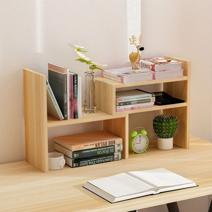 Creative computer desk bookshelf simple shelf small