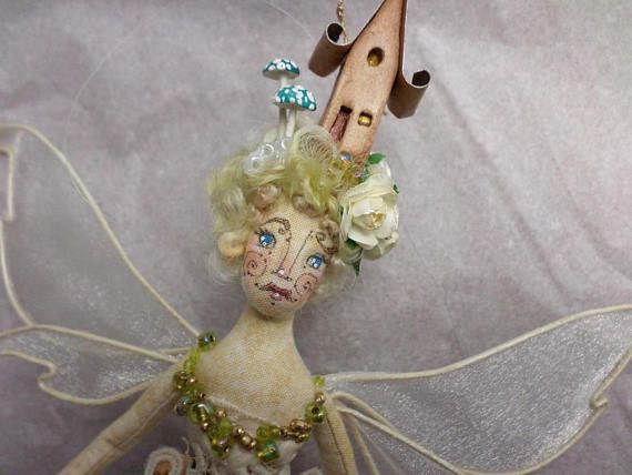 OOAK Fairy Art Doll  Countess Amelia Lila Wetherby  Fairy