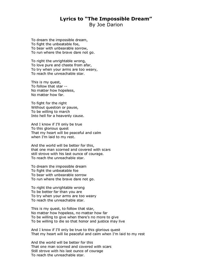 nothing is impossible lyrics pdf