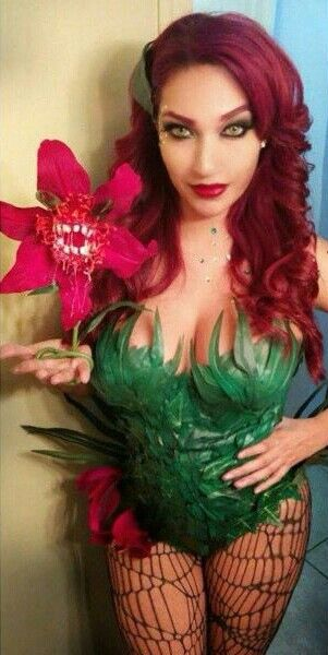 Character: Poison Ivy (Dr. Pamela Isley) / From: DC Comics 'Batman' & 'Gotham City Sirens' / Cosplayer: Unknown