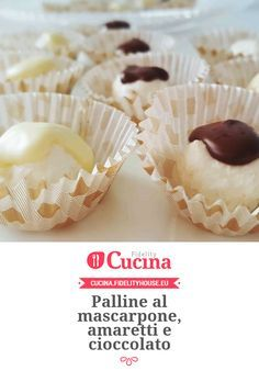 Palline al mascarpone, amaretti e cioccolato