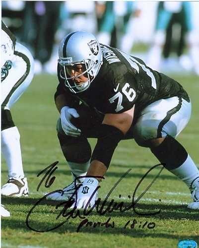 steve wisniewski football cards | Steve Wisniewski autographed 8x10 Photo (Oakland Raiders)