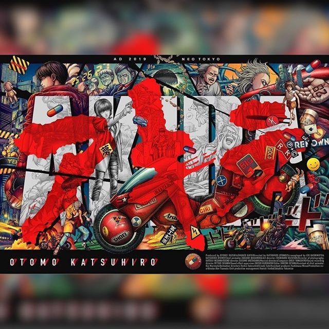 Neo Tokyo Is About To E X P L O D E Featured Artist Ise Ananphada Akira Neotokyo Kaneda Anime Otomo Tetsuo Moviep Geek Poster Akira Anime Akira