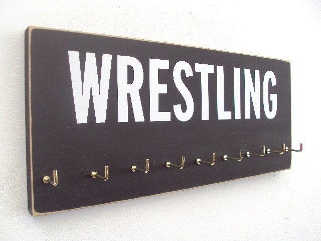 Wrestling Medals Hanger wrestling medals by runningonthewall, $28.99