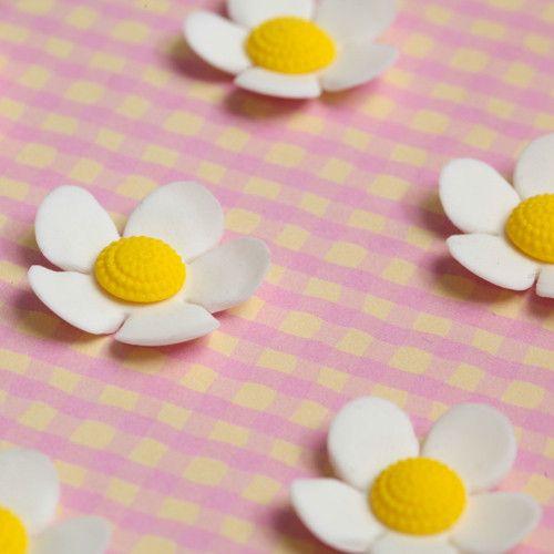 Blossom Sugar Art Cake Decorating Supplies : Medium White Gumpaste Flower Blossom cake decorations for ...