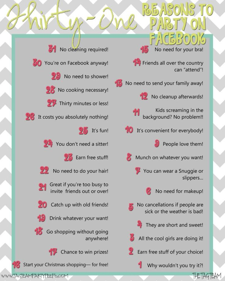 Thirty-One reasons to party on Facebook... The Tag Team