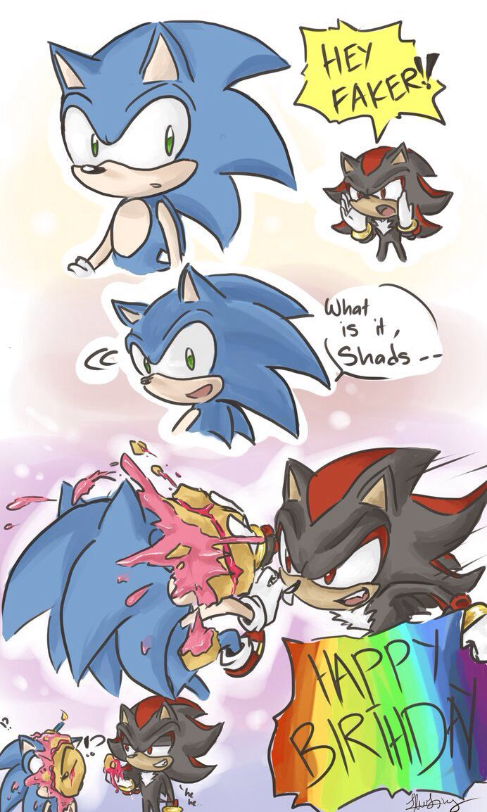 Funny Sonic And Shadow