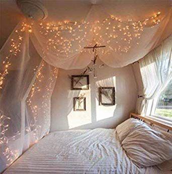 Verleihen Sie Ihrem Schlafzimmer einen Duft mit Lichterketten für das Schlafzimmer