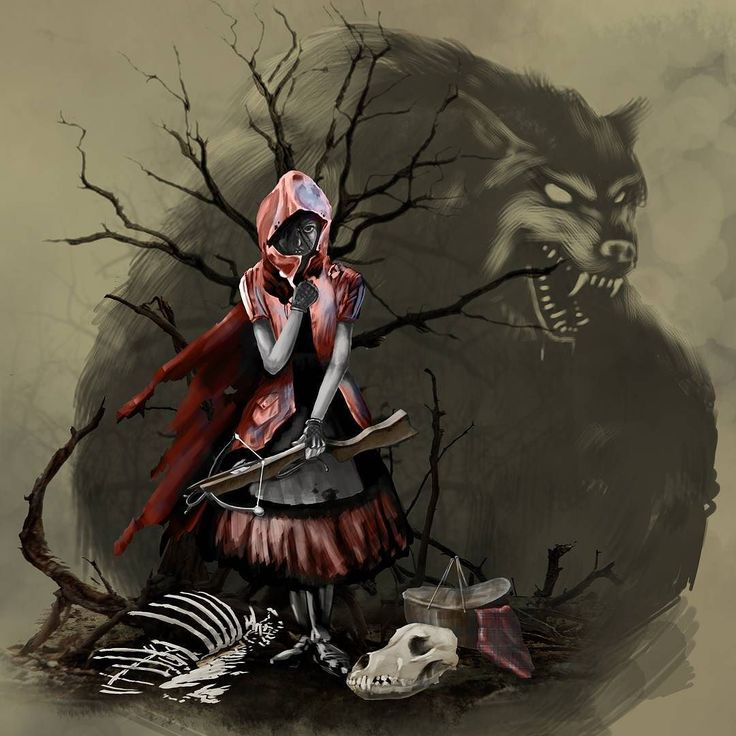 Always loved the thought of little red wolf hunter. What's your favorite twisted Fairy Tale?  #art #picoftheday #fantasyart #fairytale #shanemadden #ecK #digitalart #kylebrushes #madewithwacom #instaart #hero #comics #cosplay #cosplayer