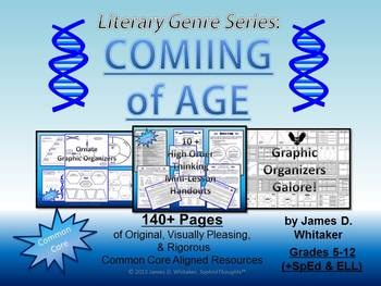 Coming of Age Literary Genre Unit Resource Common Core -- 140+ Pages of Common Core Material!