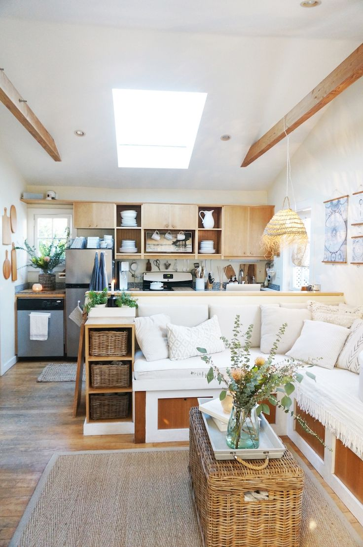 garage bedroom addition%0A Tour the     Sq  Ft  Venice Cottage of a Creative Young Family