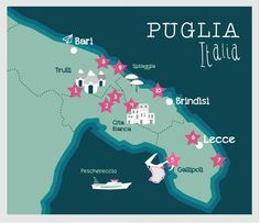 Map Puglia Travel