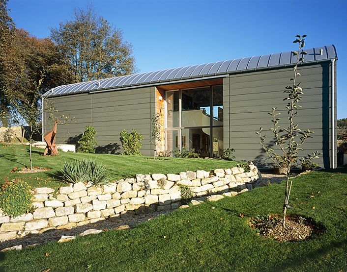 Dutch barn conversion google search barns pinterest for Metal building house conversion
