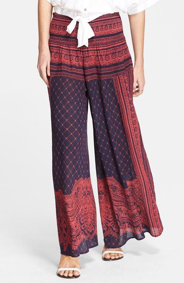 Smocked Wide Leg Pants - @nordstrom #nordstrom