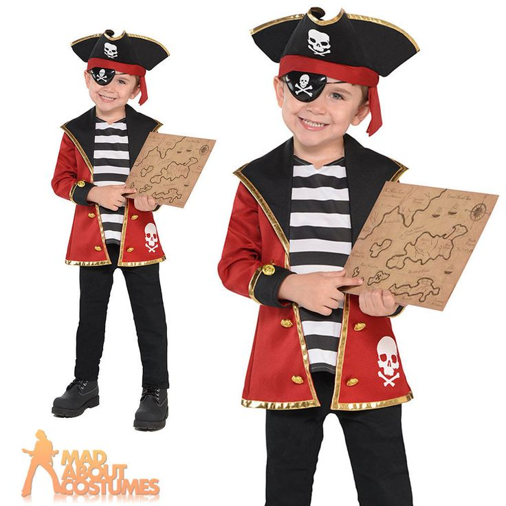 Details about Boys Girls Pirate Costume Kit Kids Fancy Dress Child Book Day Childrens Outfit