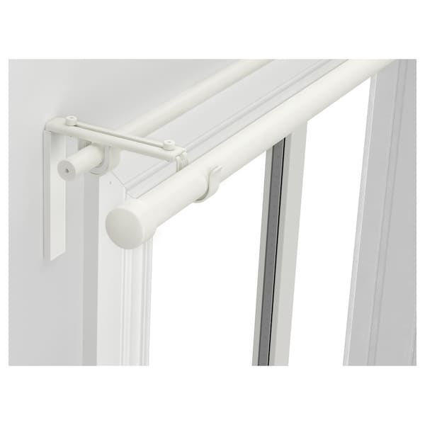 Racka Hugad Double Curtain Rod Combination White Ikea In