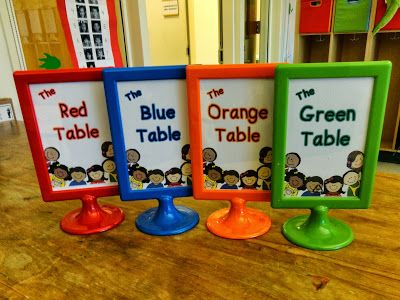 Free table labels (frames $1.00 from Ikea)