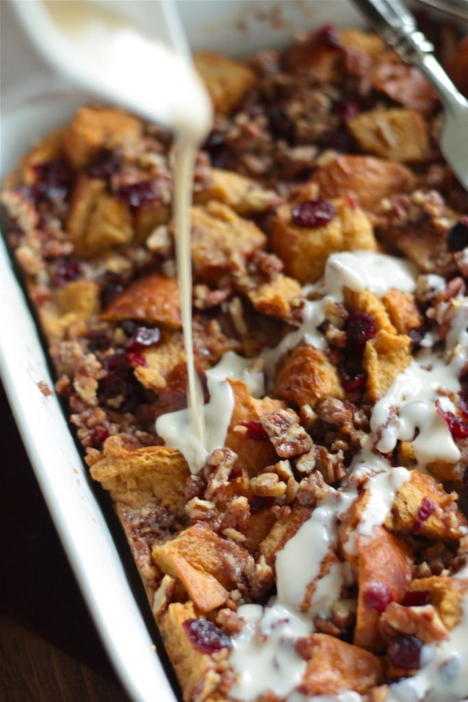 Cranberry Bread Pudding with Rum Cream Sauce