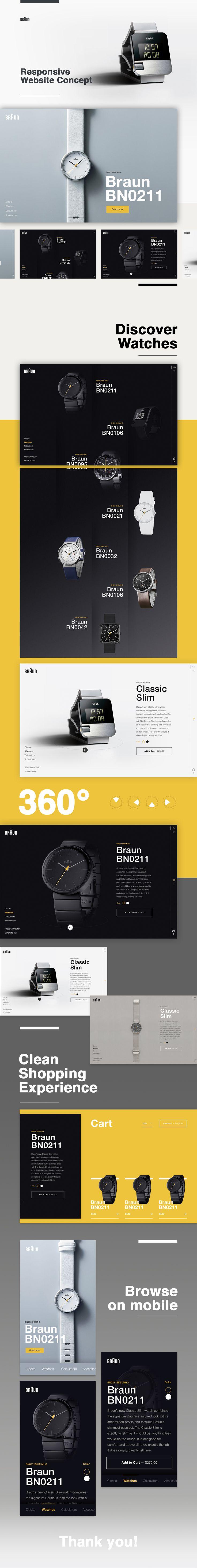 Braun Responsive Website Concept on Behance