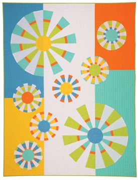 How to sew a modern quilt by Nancy Zieman. How to sew Dresden Plate quilt.