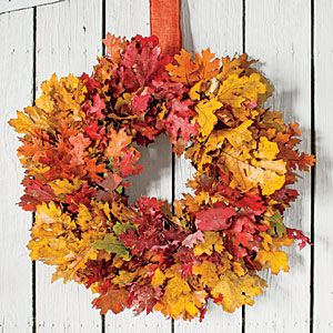 Make a Fall Wreath with Colorful Foliage - Southern Living