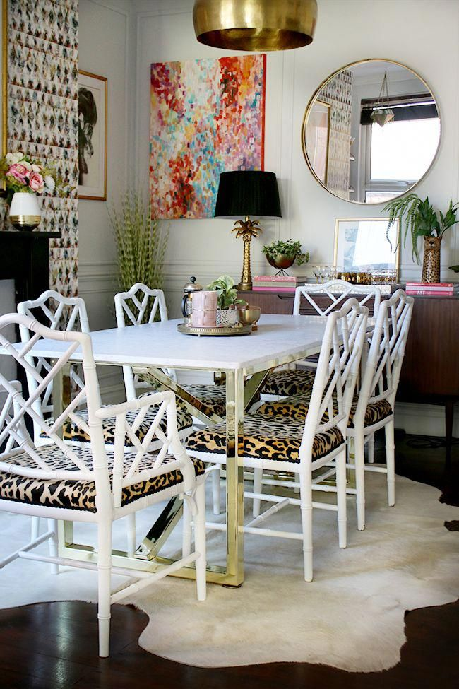 dining room with marble table and brass base with faux bamboo chairs rh pinterest com
