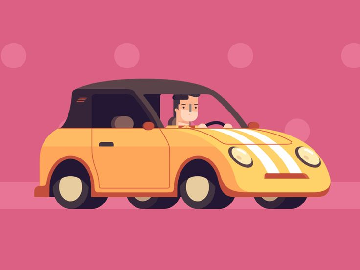 Dribbble - The Car in Pink by Vladimir Marchukov