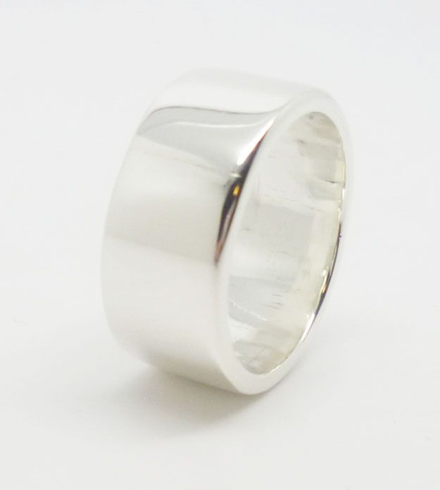 Thick Sterling Silver Ring - Custom  http://www.hilaryandjune.com/product/white-genuine-freshwater-pearl-drop-necklace