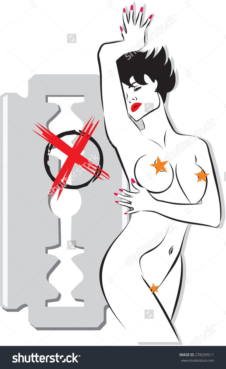 Female Body In A Pose With A Background A Razor. Vector Conceptual Art Illustration Items For Procedures Beauty, Fashion, Spa, Waxing, Bikini Wax, Underwear. - 278209511 : Shutterstock