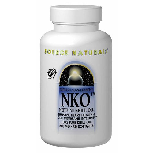 NKO Neptune Krill Oil 500mg 60 softgels from Source Naturals (Vitamins Supplements - Krill Oil)