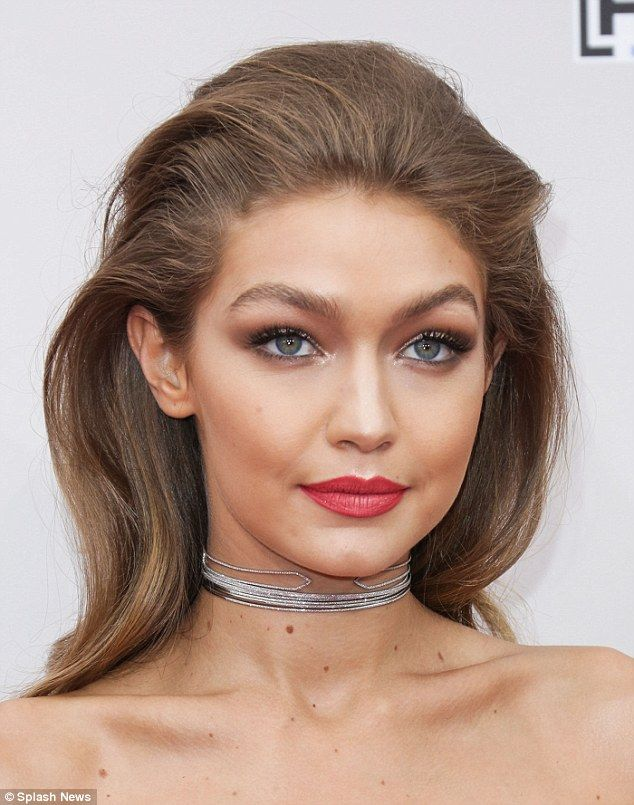 That '70s show! Gigi Hadid, 21, wanted her glamorous hair and make-up to reflect the 1970s vibe of the dress she wore to the 2016 American Music Awards on Sunday night in L.A.