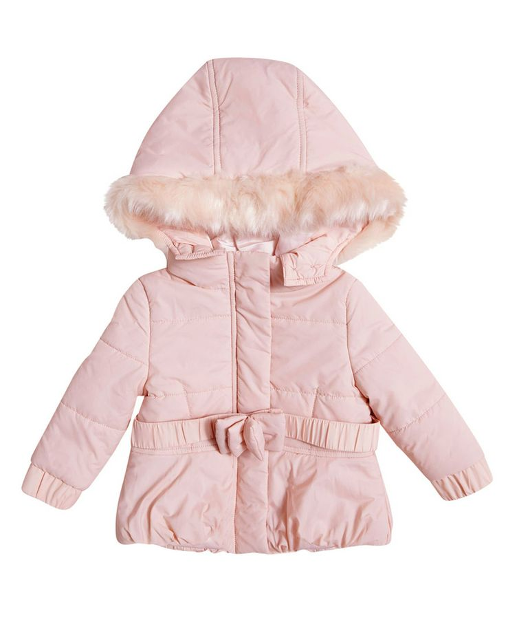 Baby Girls Bow Front Puffer - Bardot Junior