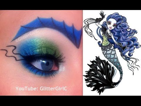 Monster High's Sirena von Boo Makeup Tutorial. Youtube channel: full.sc/SK3bIA