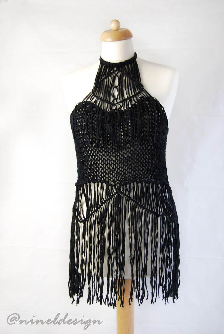 UNIQUE tunic. Crochet boho top. Bohemian clothing. Macrame. Bohemian dress. Knit dress. Crochet dresses for women. Dresses. Wedding dress by NinElDesign on Etsy